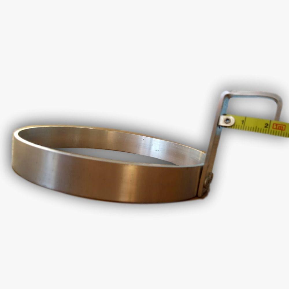 Suporte Universal Para Vaso Em Alumínio Natural 18 centímetros de diâmetro