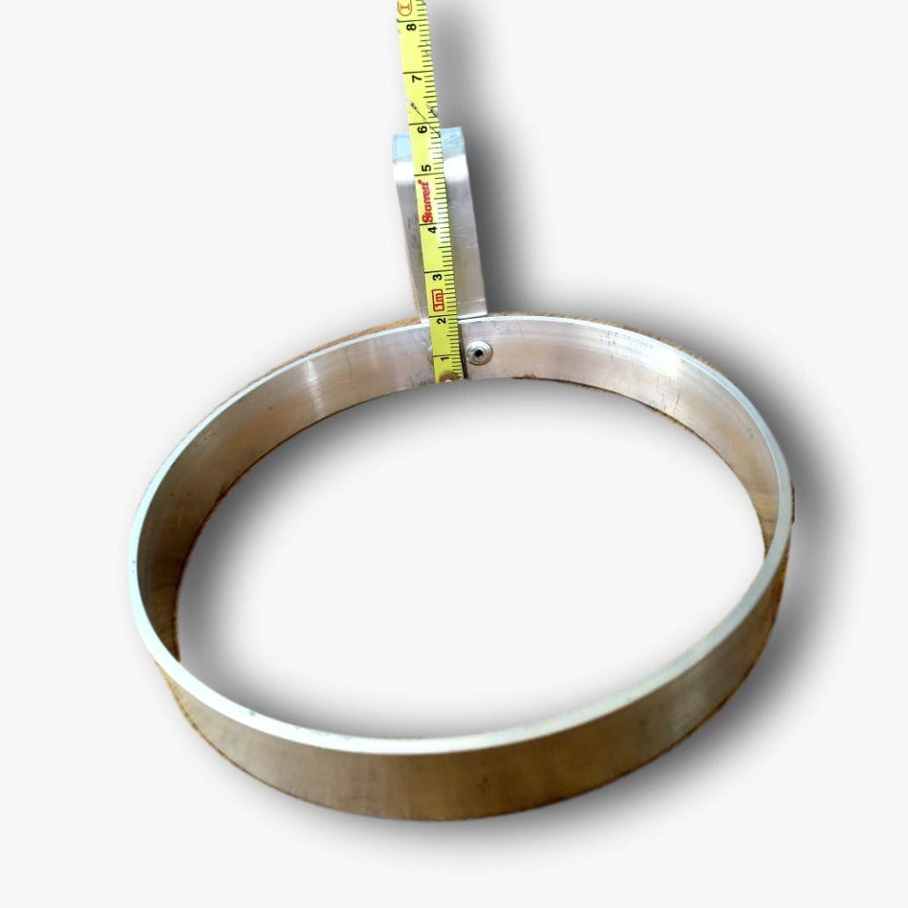 Suporte universal Para Vaso Em Aluminium Natural 11 centímetros de diâmetro