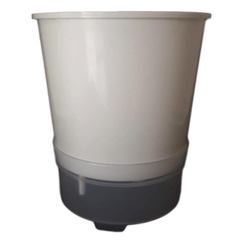 50 Unidades De Vaso Auto Irrigável Anti Mosquito 15 cm De Altura Acompanha 20 Suportes Em Alumínio Natural