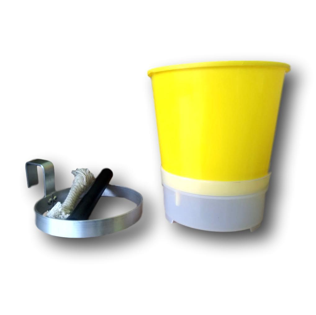 Vaso Auto Irrigavel Semi Hidroponico 5 Unidades Com Suporte Em Alumínio Natural Para Pendurar DE BRINDE