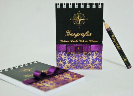 Lembrancinha de Formatura - Bloquinho de Anotações com Mini Lápis Personalizado
