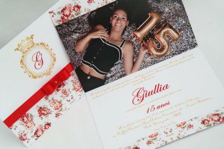 Convite 15 anos com Foto