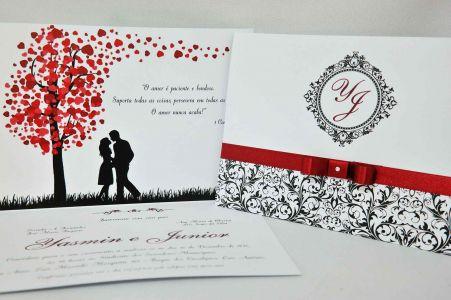 Convite para Casamento Marsala
