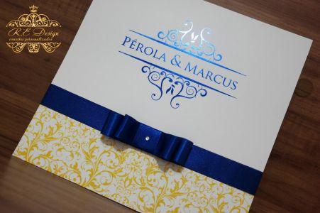 Convite de Casamento com Hot Stamping