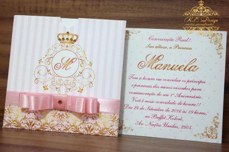 Convite Infantil com Envelope