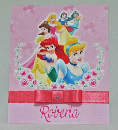 Convite Infantil Princesas Disney