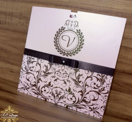 Convite para 15 anos com Envelope Papel Brilhante