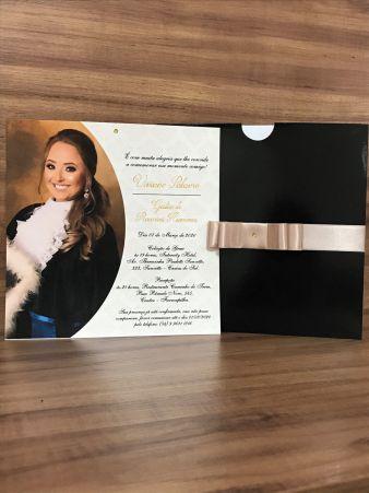Convite para Formatura com Envelope
