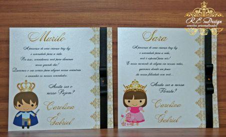 Convite para Pajem e Daminha