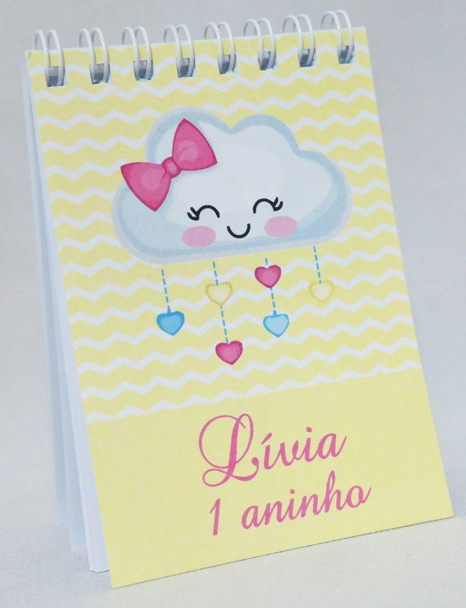 Lembrancinha Infantil - Bloquinho de Anotações Chuva de Amor Personalizado