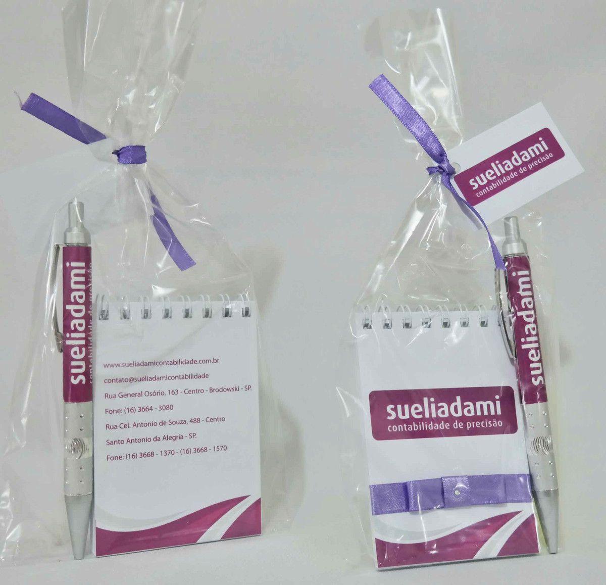 Brinde para Empresas - Bloquinho de Anotações com Caneta Personalizada
