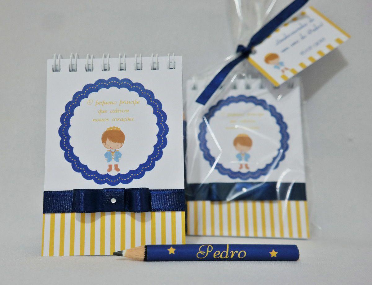 Lembrancinha Infantil  - Bloquinho de Anotações com Mini Lápis Personalizado