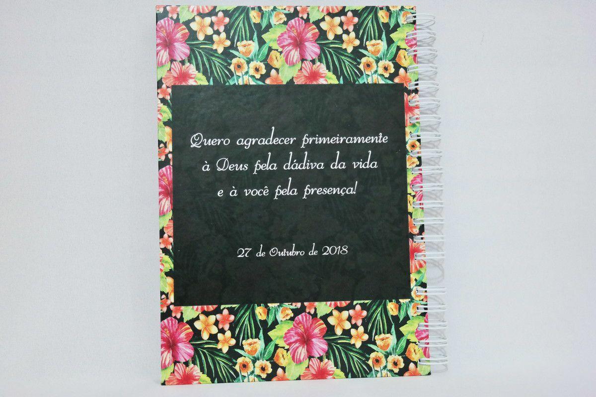 Caderno de Mensagens para Aniversário Personalizado