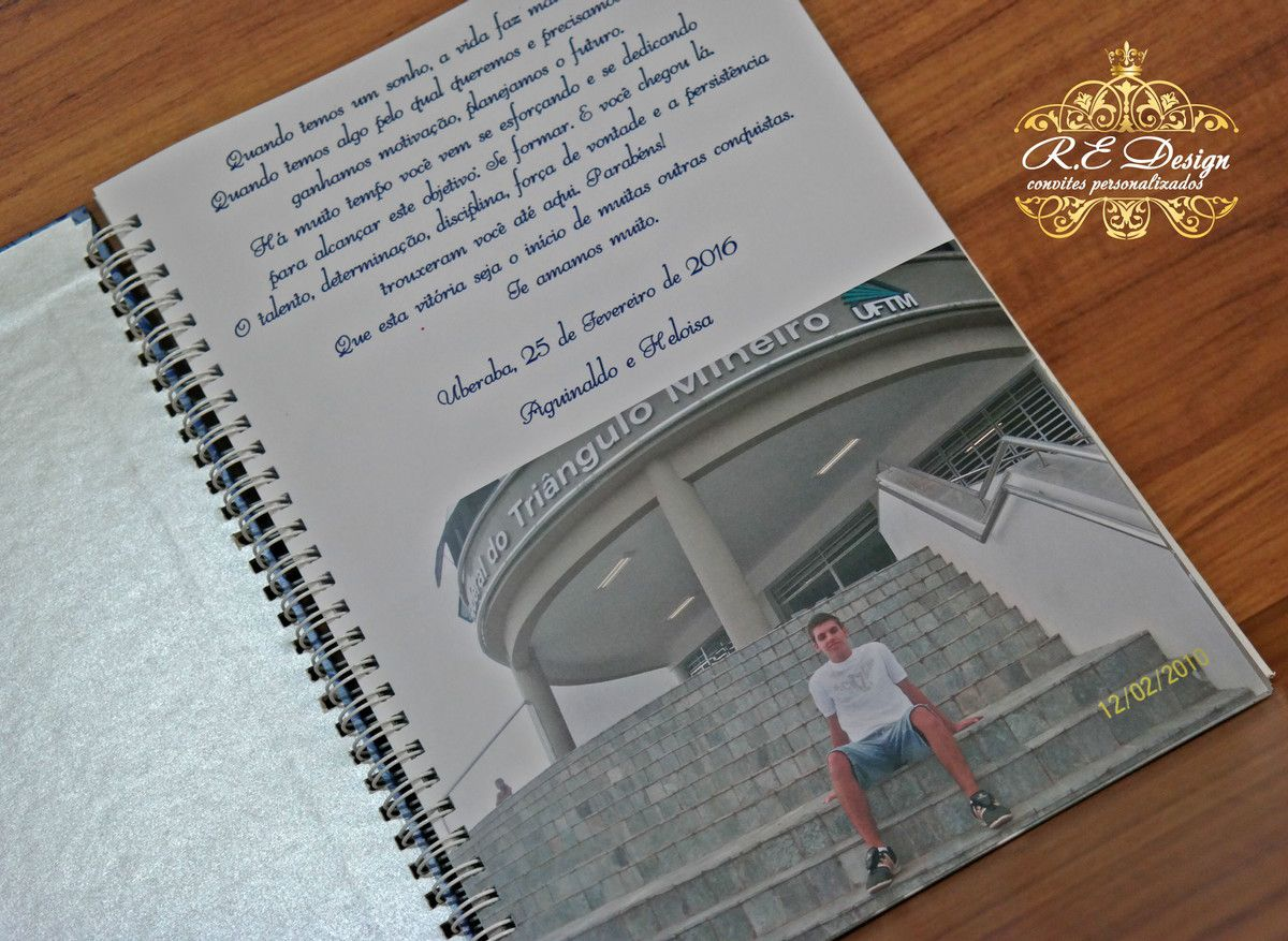 Caderno Personalizado de Mensagens para Formatura