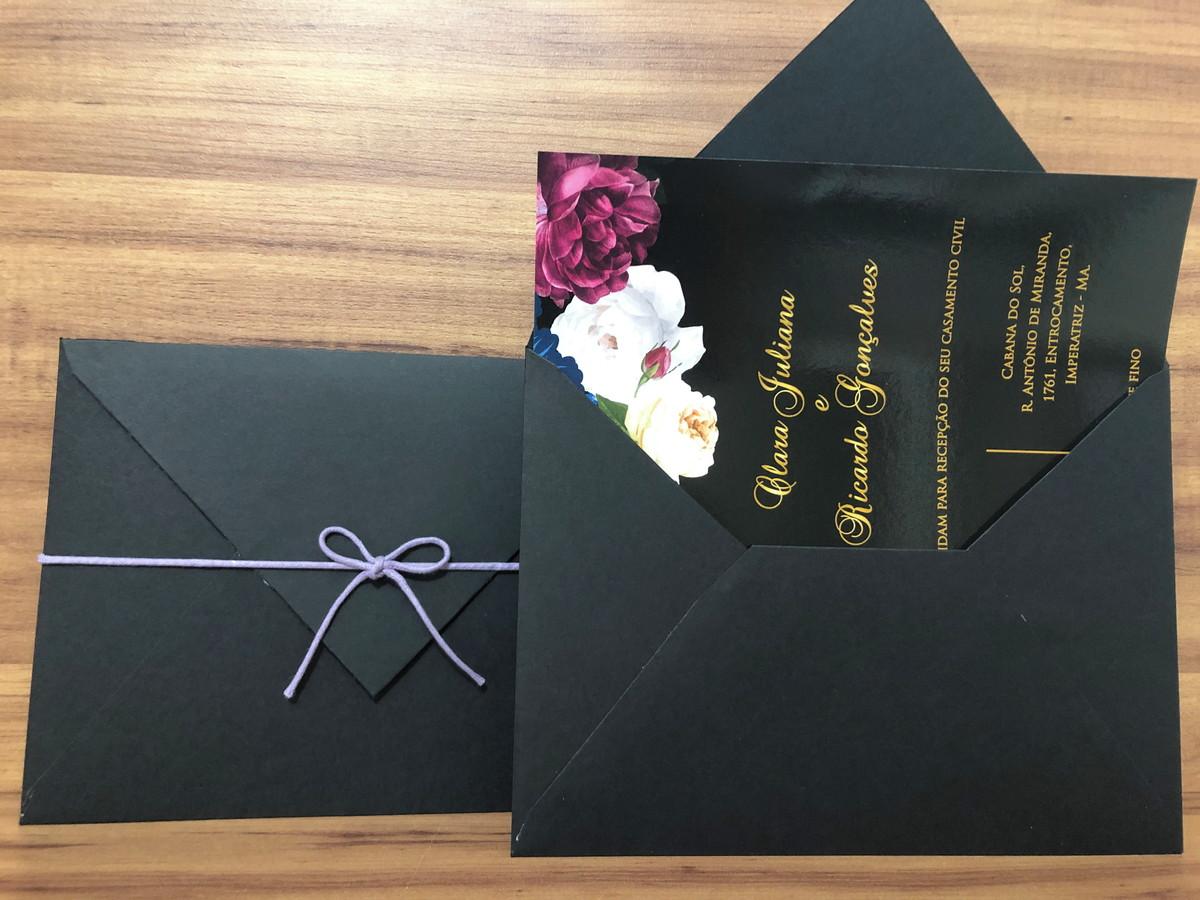Casamento de Casamento com Envelope