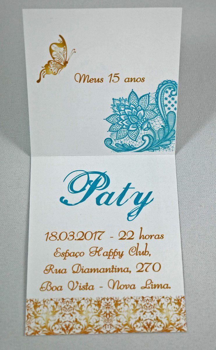 Convite 15 anos - Modelo P