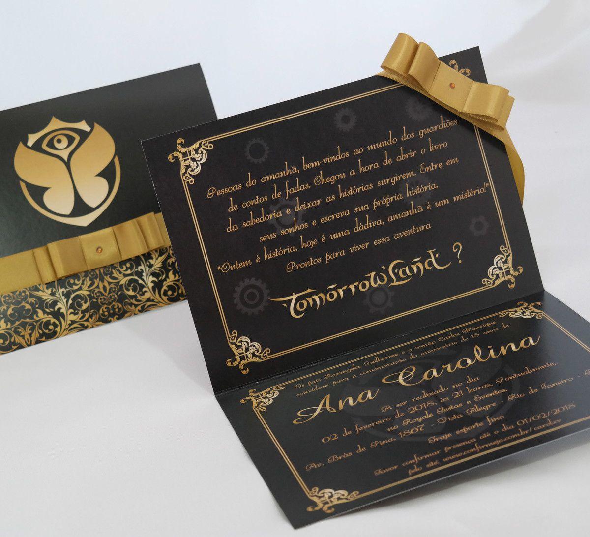 Convite 15 anos Tomorrowland