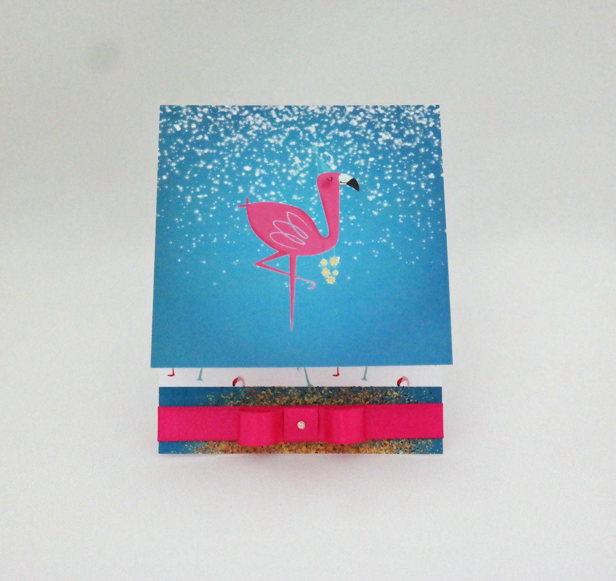 Convite para Aniversário Flamingo