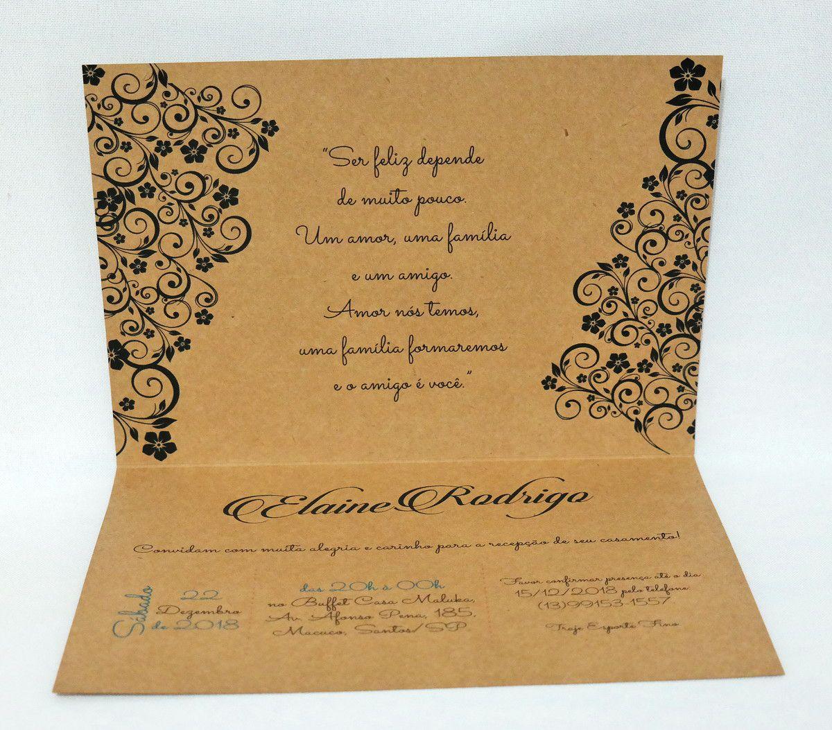 Convite para Casamento Digitais