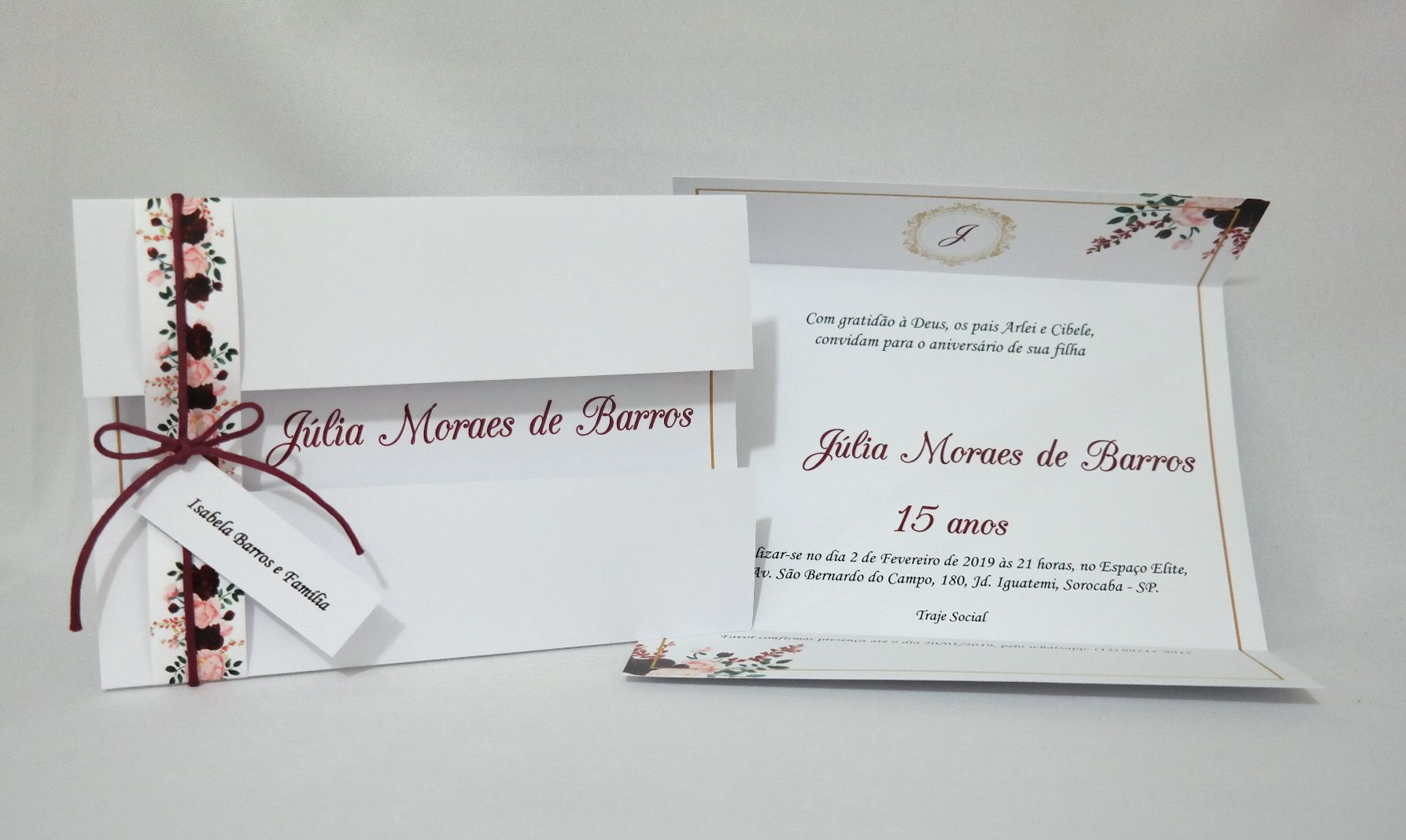 Convite de 15 anos