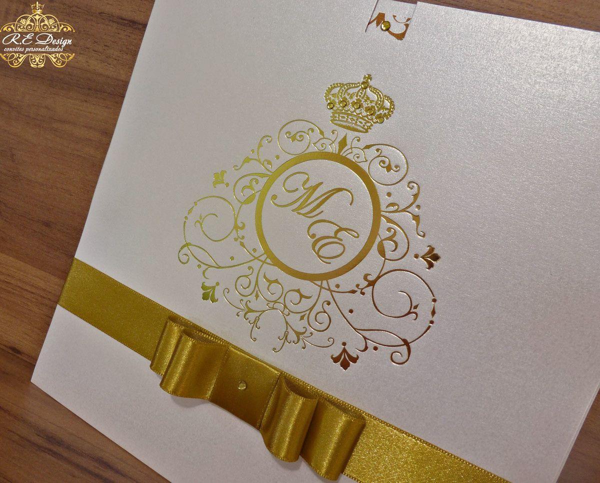 Convite de 15 anos com Envelope e Hot Stamping