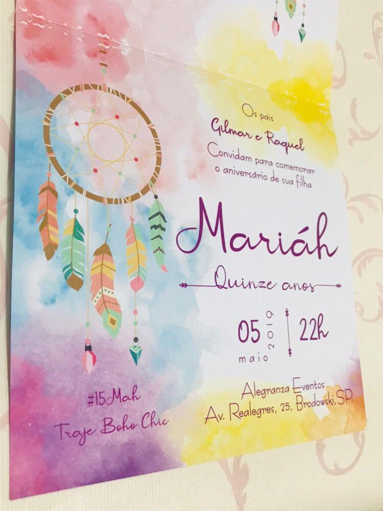 Convite de 15 anos Filtro dos Sonhos