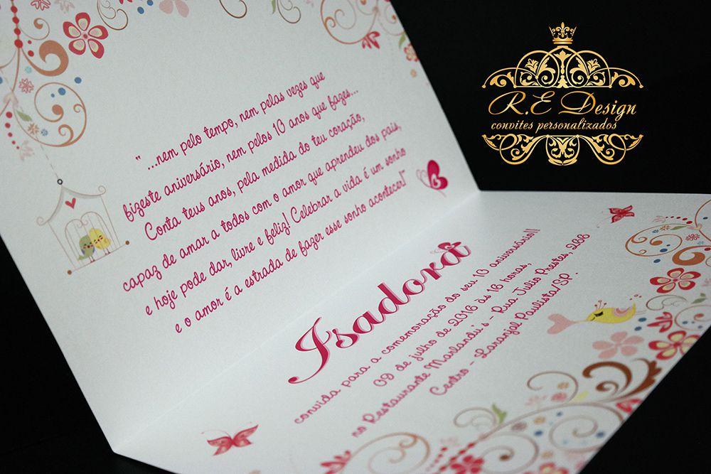Convite de 15 anos Floral