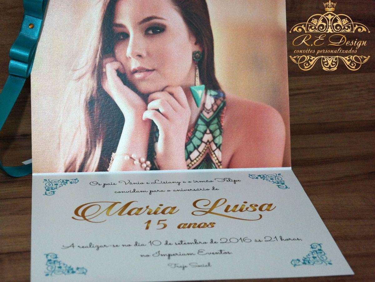 Convite de 15 anos com Foto