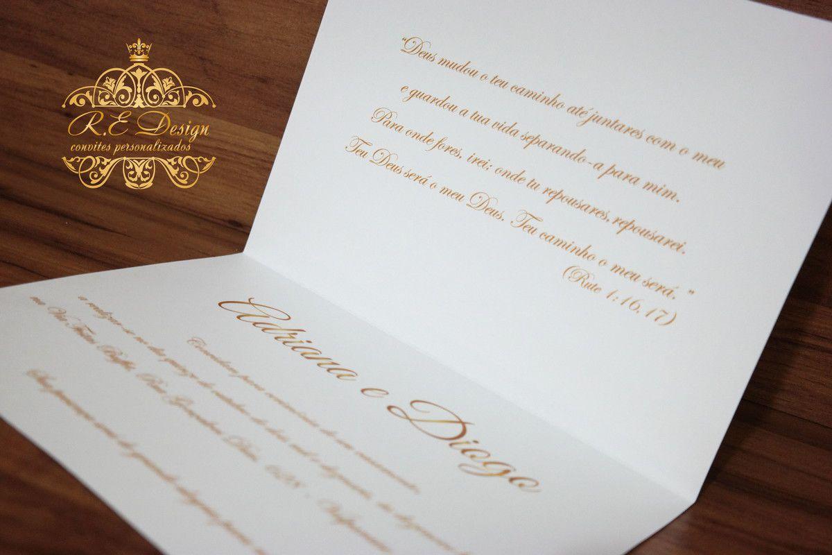 Convite de Casamento Clean