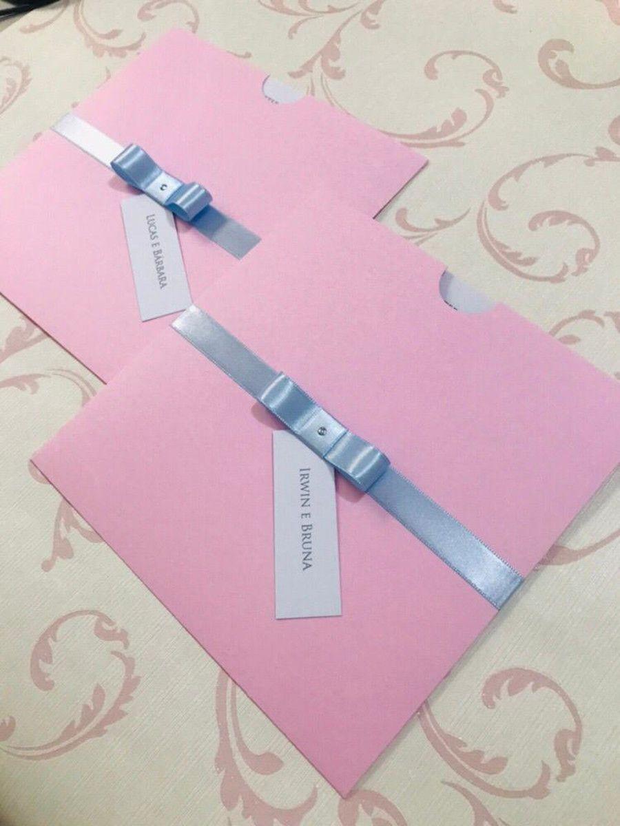 Convite de Casamento com Envelope
