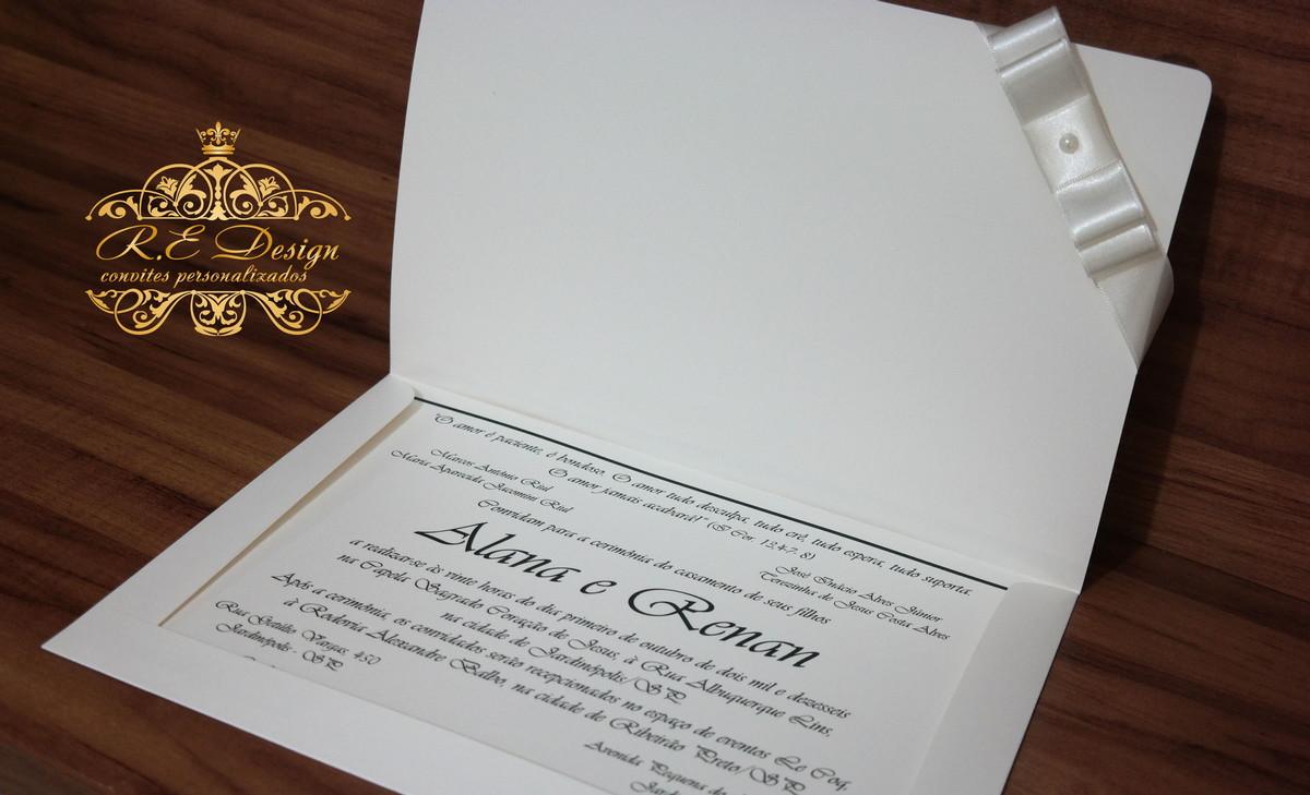 Convite de Casamento com Envelope em Papel Markatto
