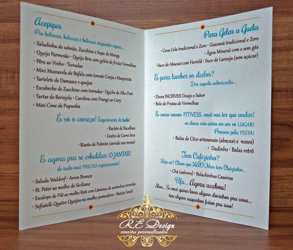 Convite de Casamento com Envelope com Hot Stamping