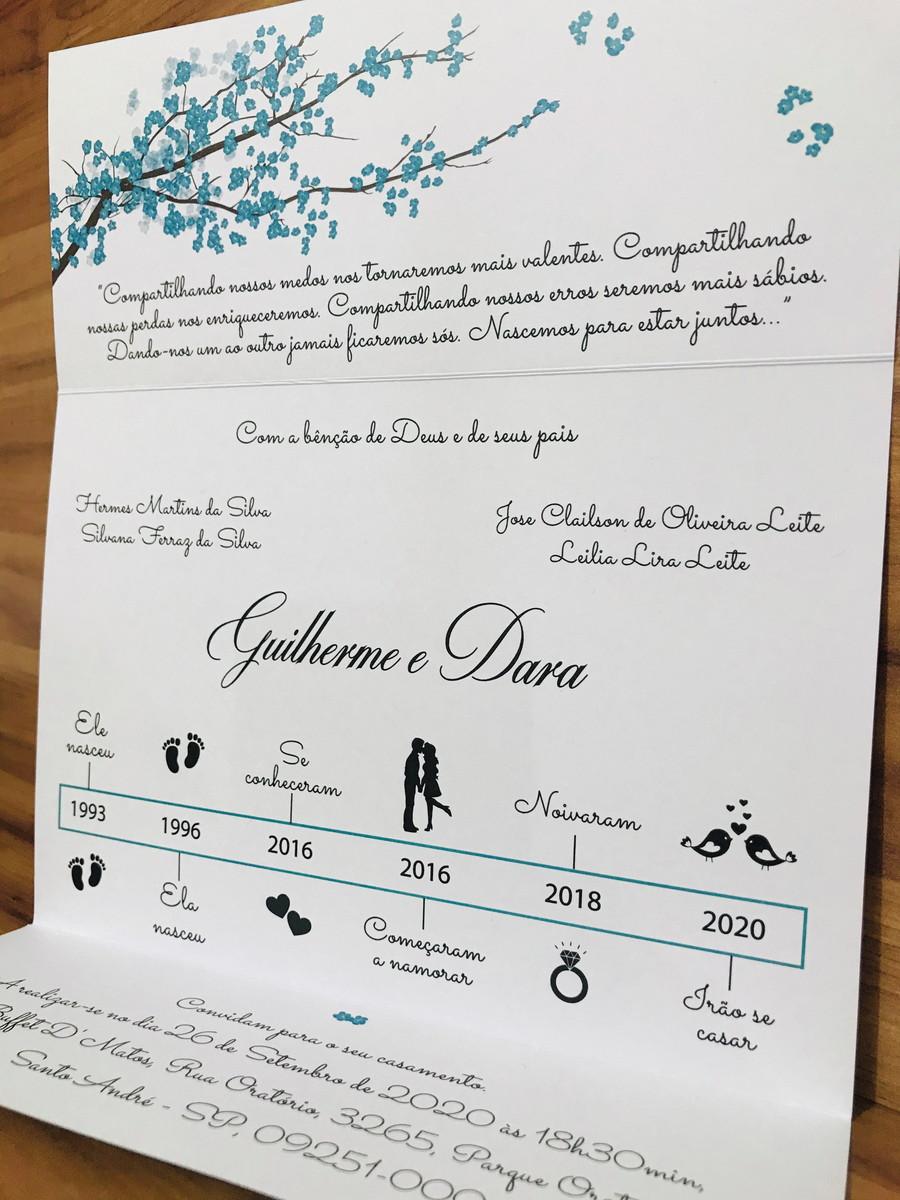Convite de Casamento com Meia Pérola