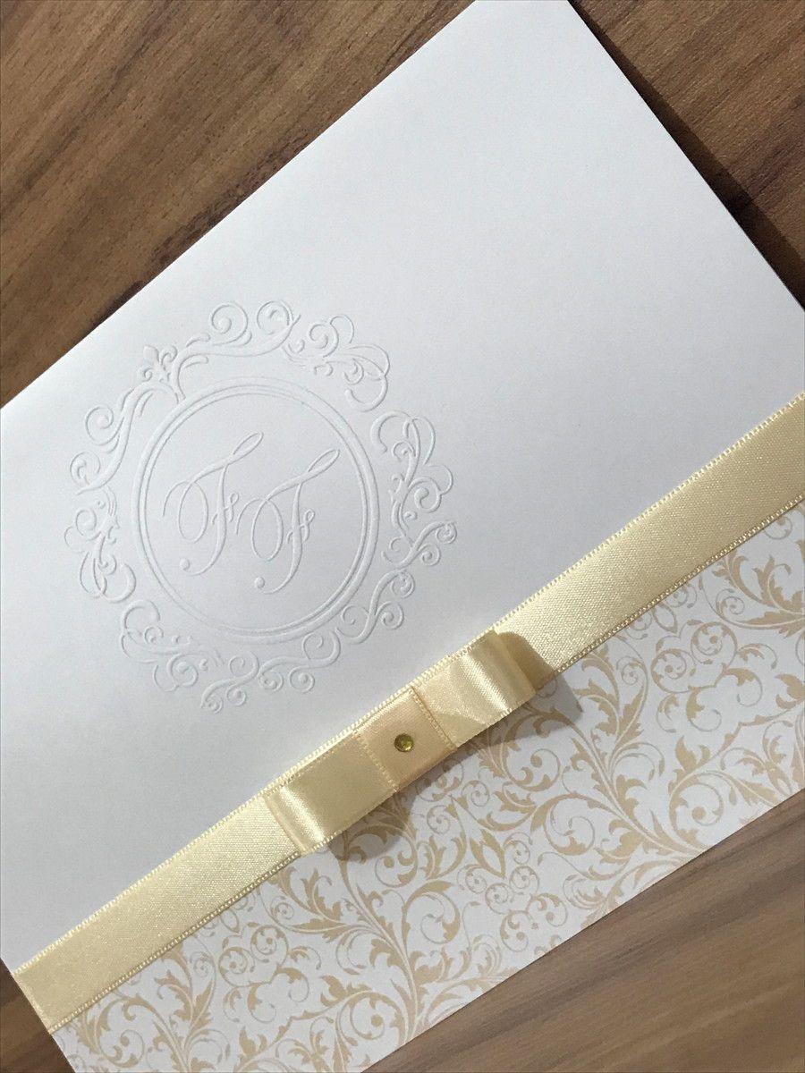 Convite de Casamento com Relevo Seco