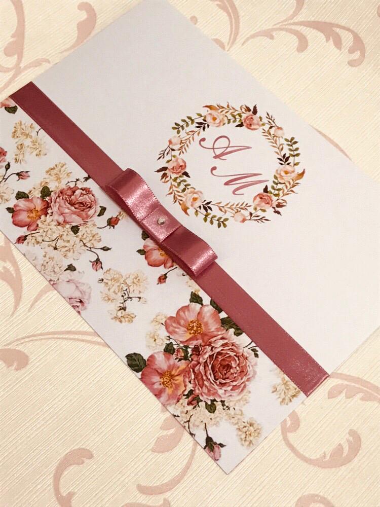 Convite de Casamento Floral
