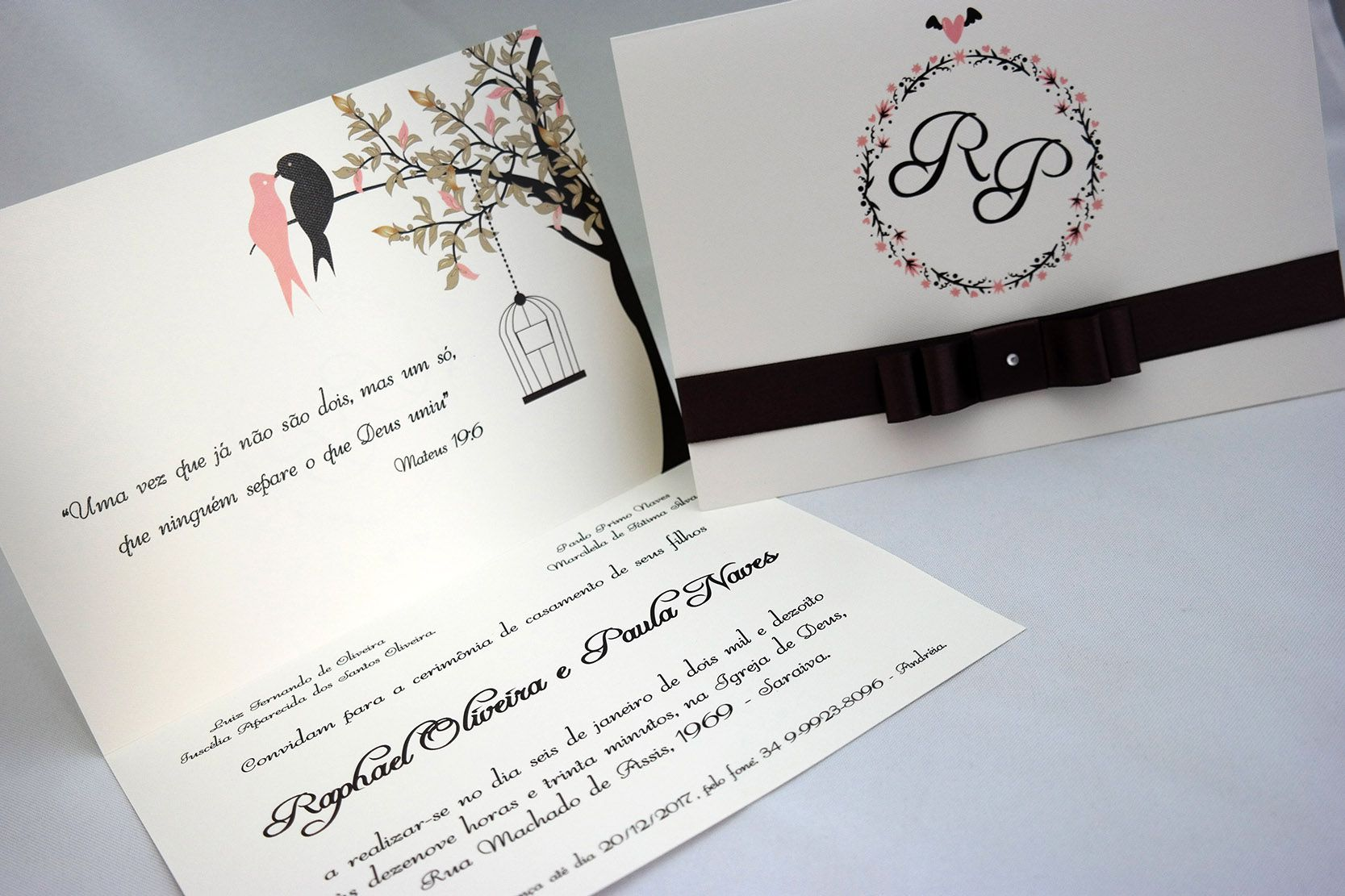 Convite de Casamento Papel Markatto