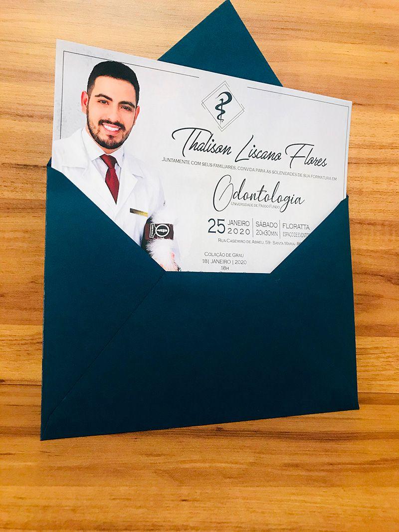 Convite de Formatura com Envelope