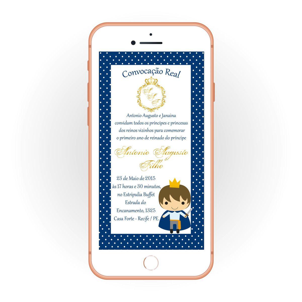 Convite Digital Infantil