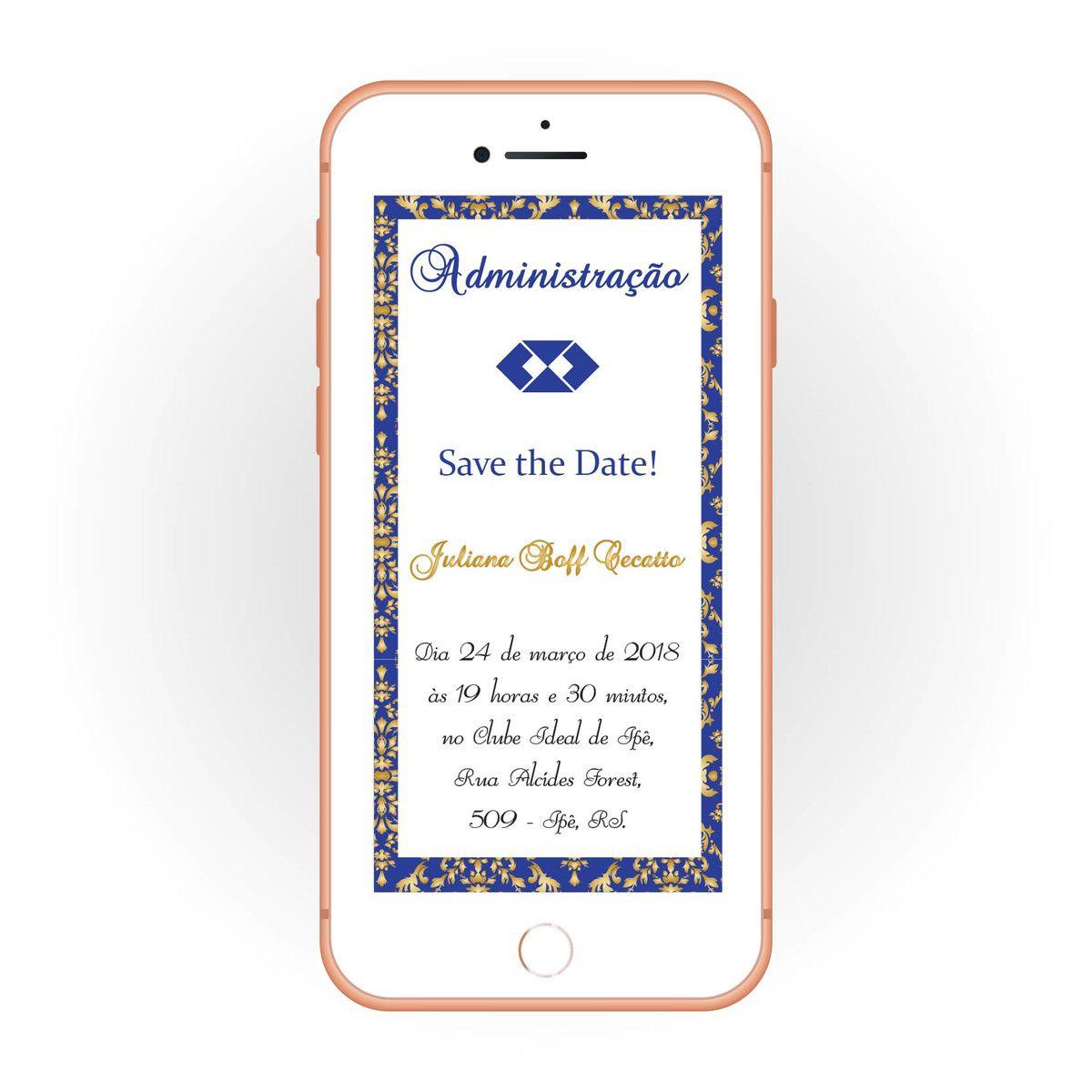 Convite Digital para Formatura