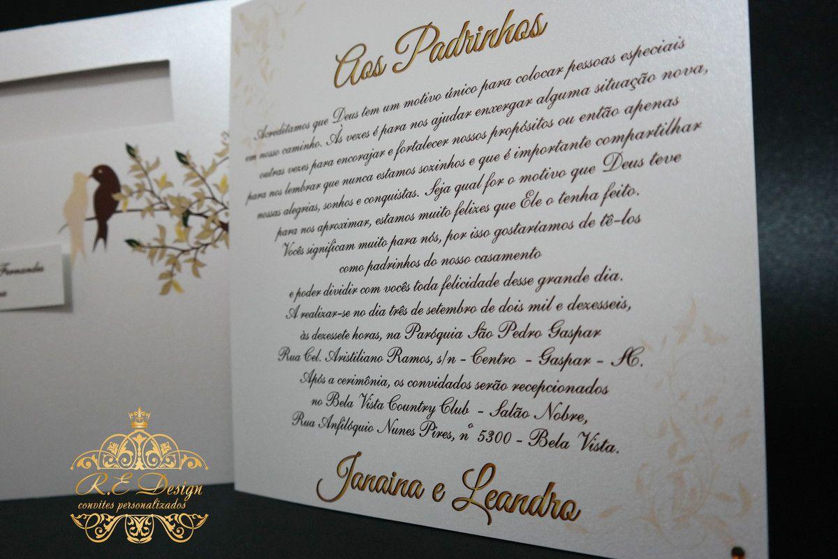 Convite Especial Pais e Padrinhos