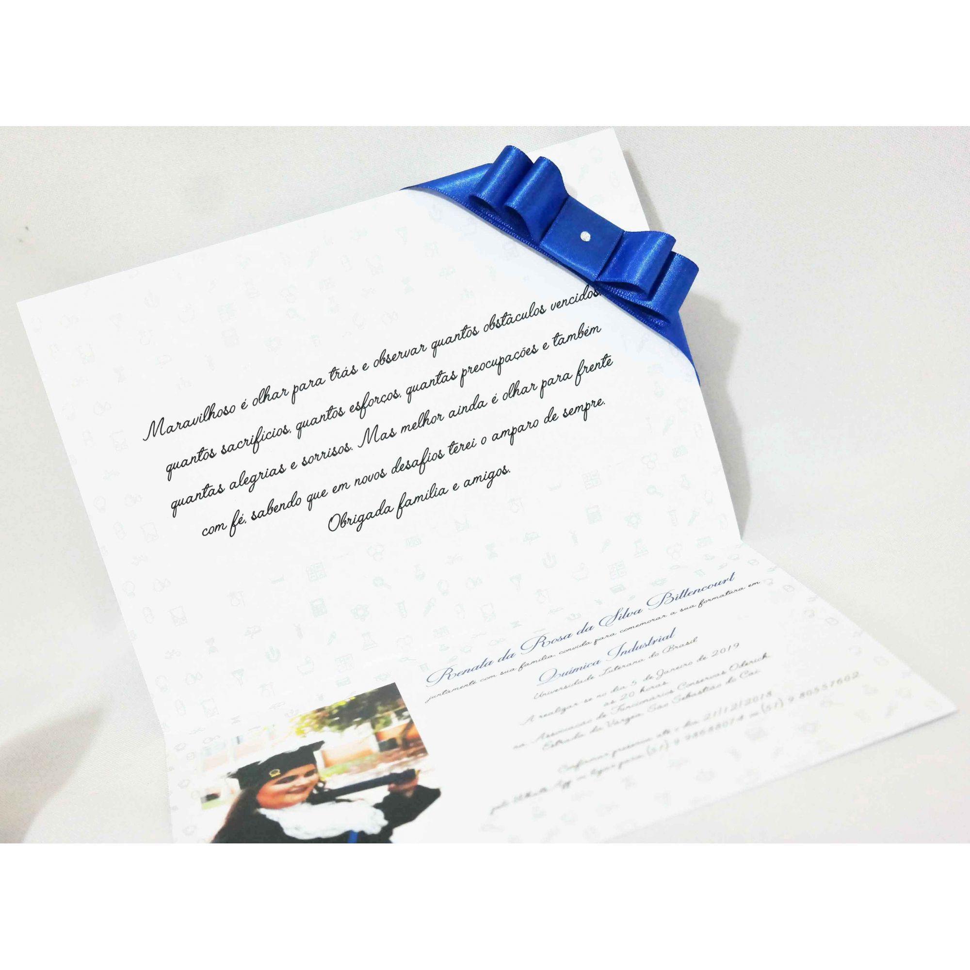 Convite de Formatura com Foto