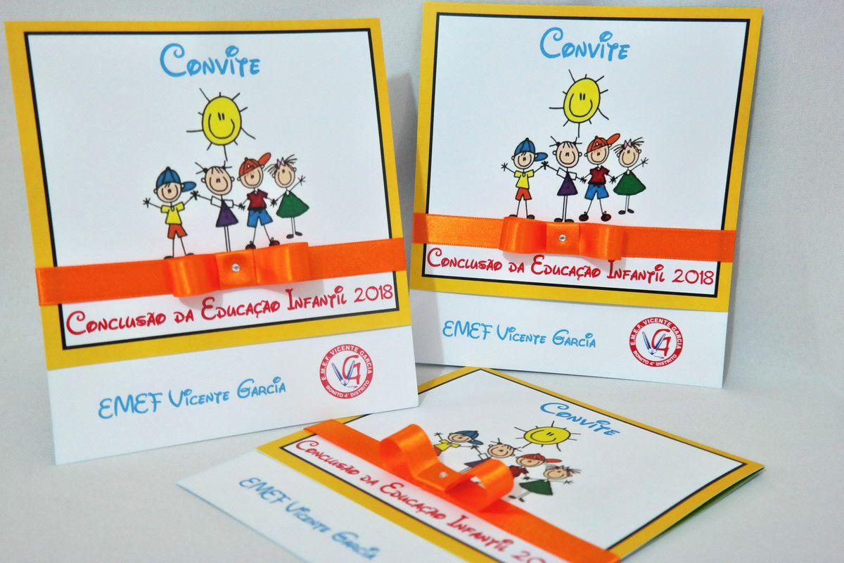 Convite de Formatura Infantil
