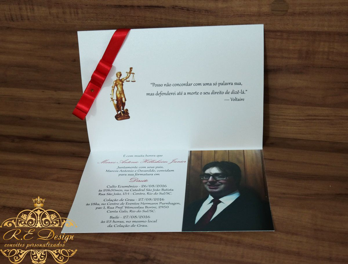 Convite de Formatura Papel Brilhante
