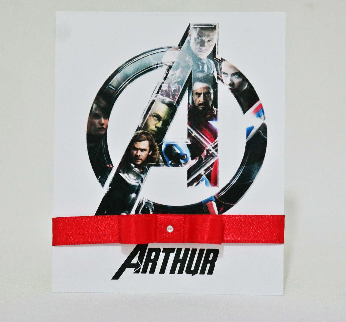 Convite Infantil Avengers