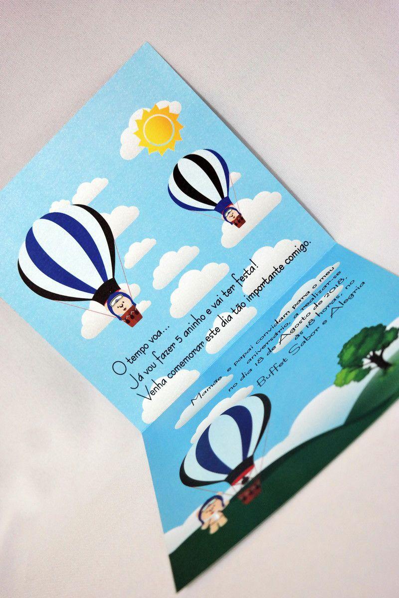 Convite Infantil Balão