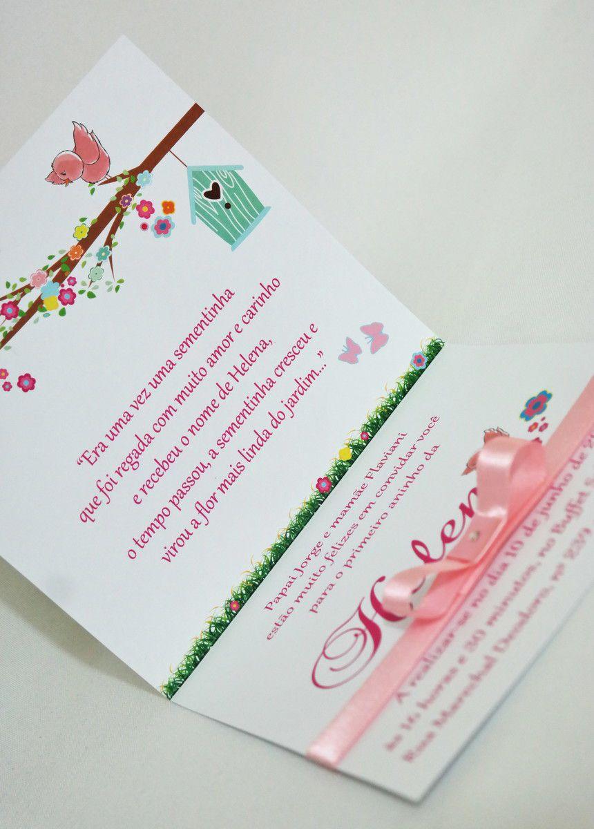 Convite Infantil Borboletas