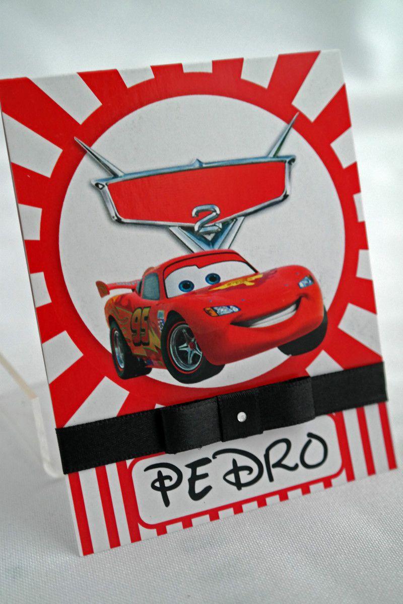 Convite Infantil Carros