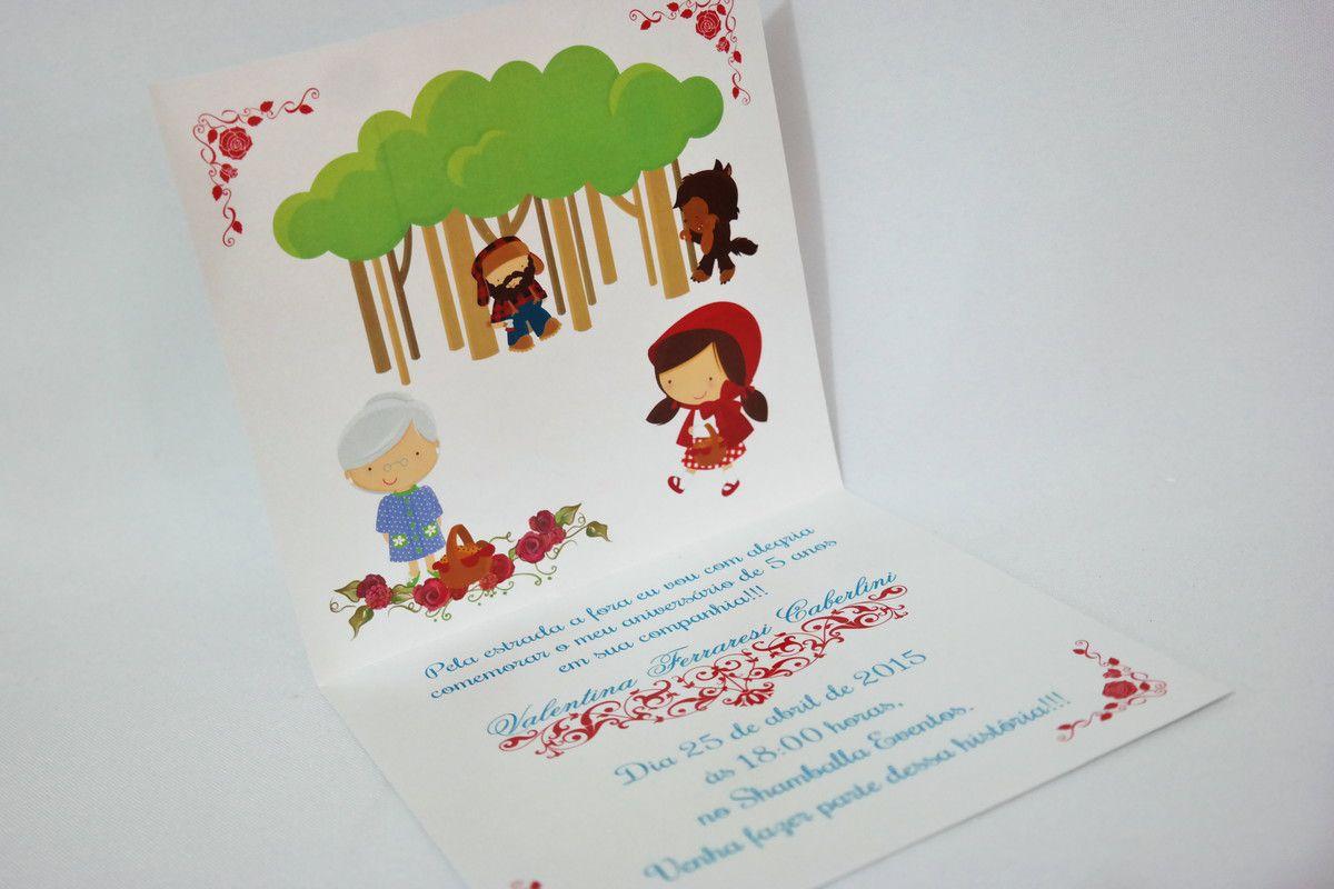 Convite Infantil Chapeuzinho Vermelho