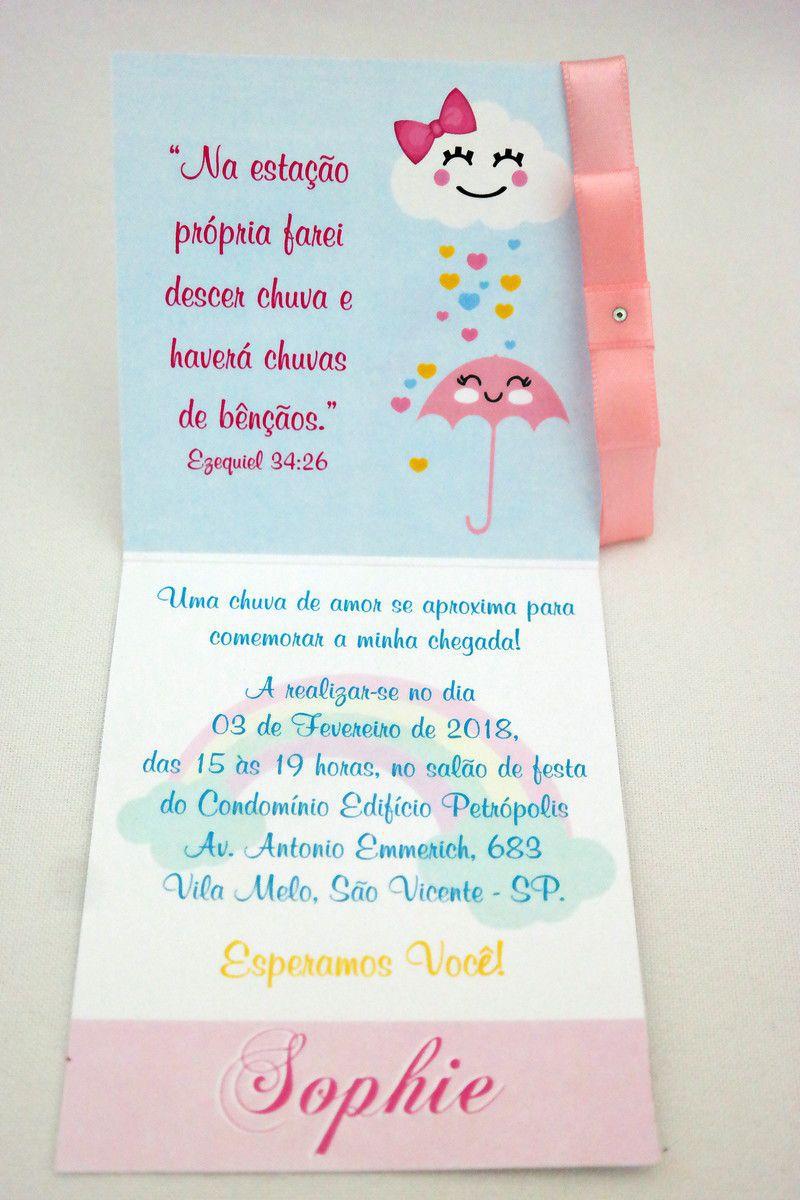 Convite Infantil Chuva de Amor