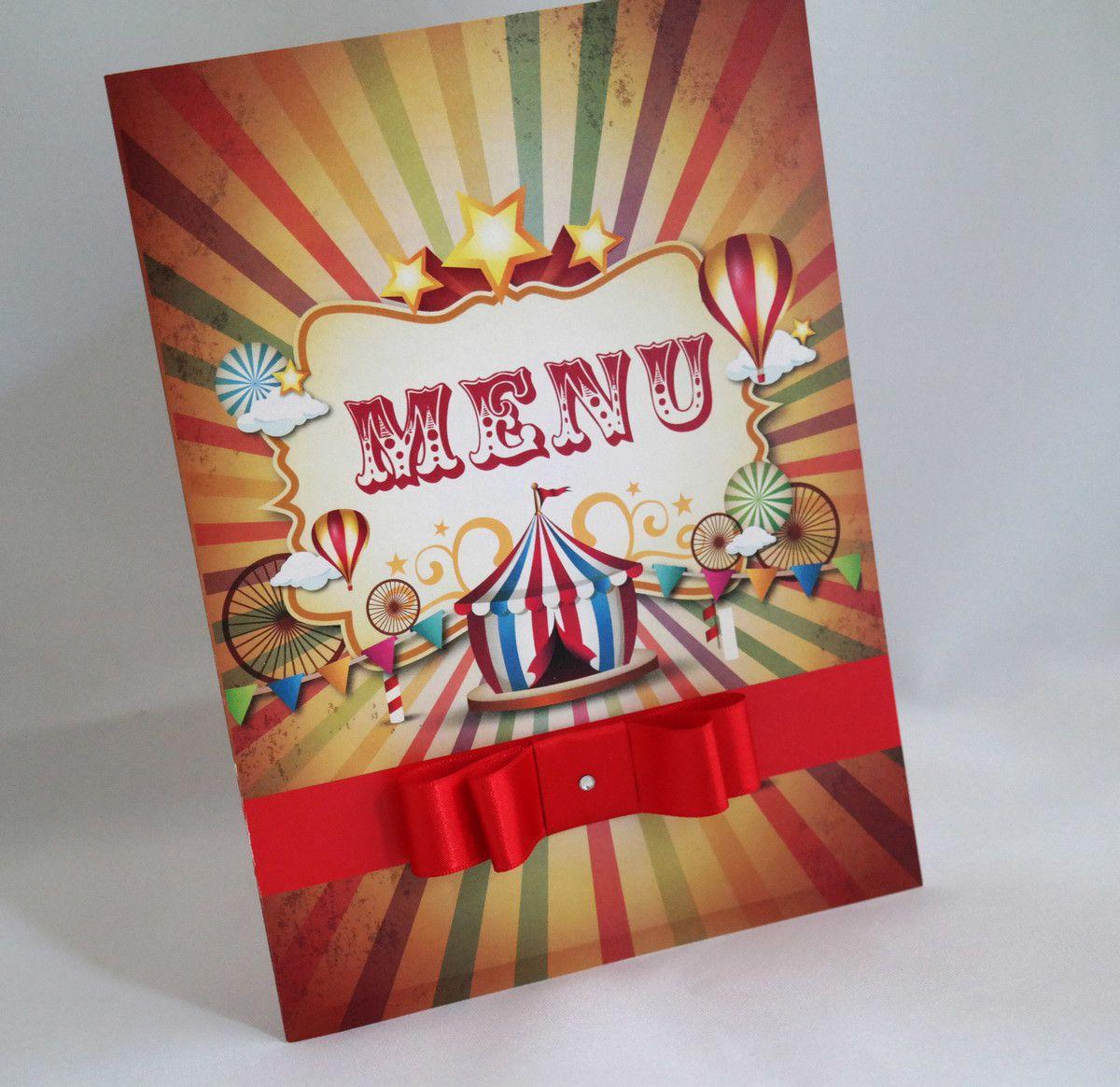 Convite Infantil Circo